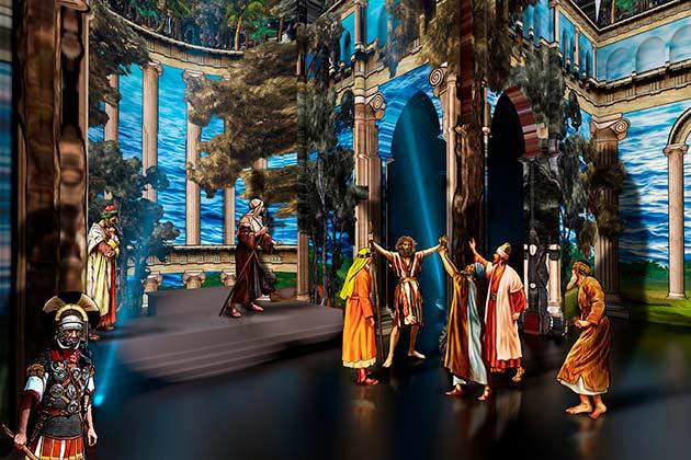 Intérieure de la cathédrale, évocation de Jésus et ses apôtres